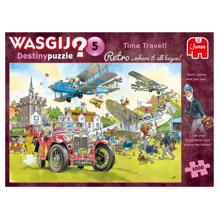Wasgij Retro 5 Time Travel! 1000 Piece Jigsaw Puzzle 1