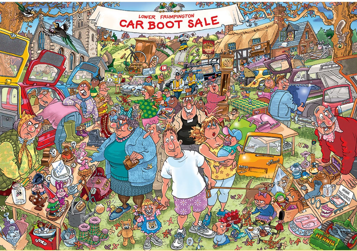 Wasgij Original 35 Car Boot Capers 1000 Piece Jigsaw Puzzle