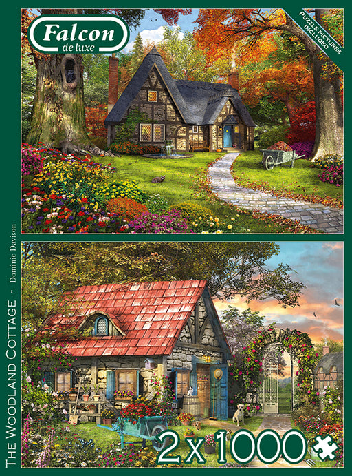 Falcon Woodland Cottage 2 x 1000 Piece Jigsaw Puzzle
