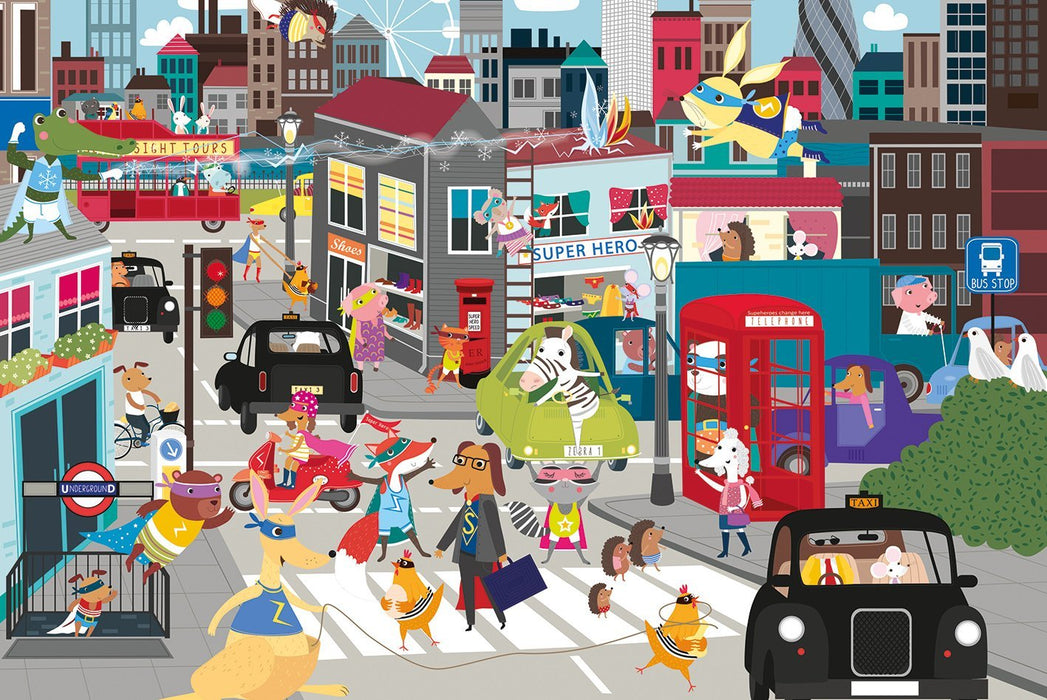 Superhero City 36 Piece Jigsaw Puzzle