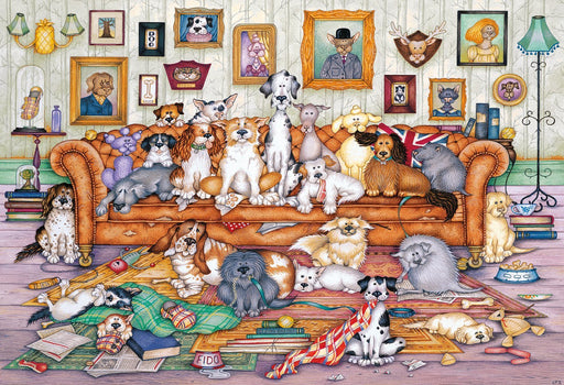 The Barker-Scratchits is a fun 500 Piece Jigsaw Puzzle!