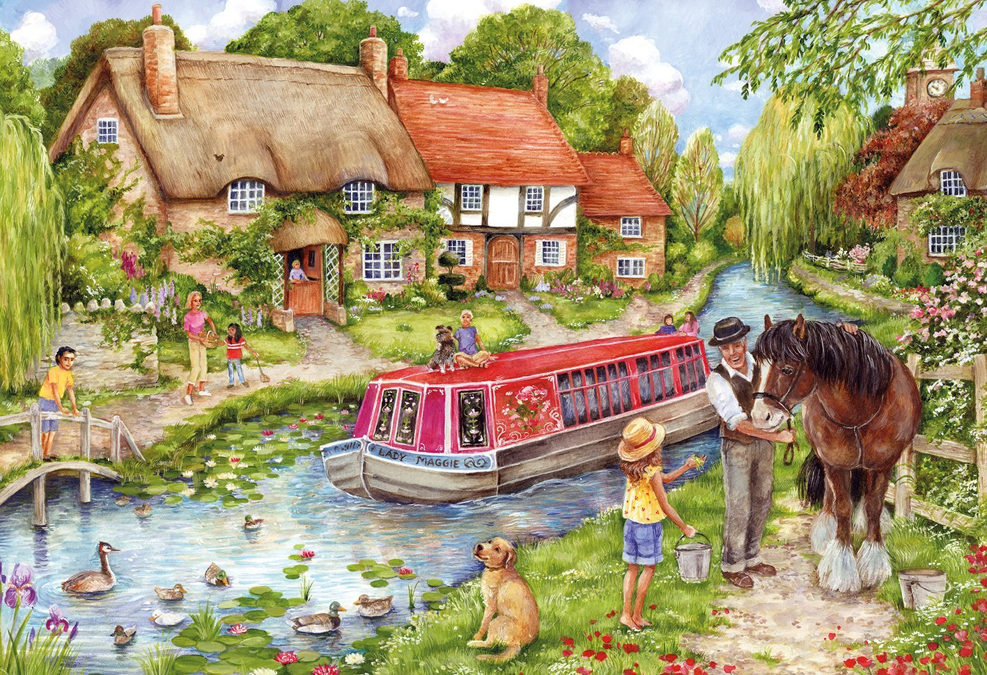 Drifting Downstream 500 Piece Jigsaw Puzzle