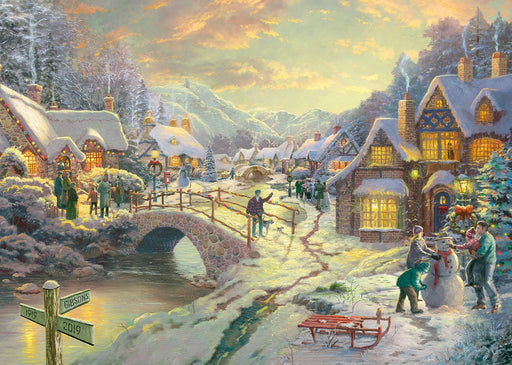 Snowfall at Sundown Thomas Kinkade 1000 Piece Jigsaw Puzzle