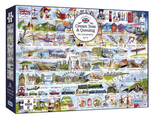 Cream Teas & Queuing 2000 Piece Jigsaw Puzzle