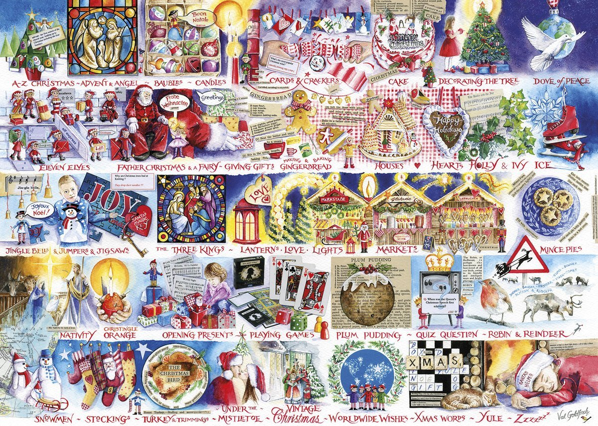 Christmas Alphabet 1000 Piece Jigsaw Puzzle
