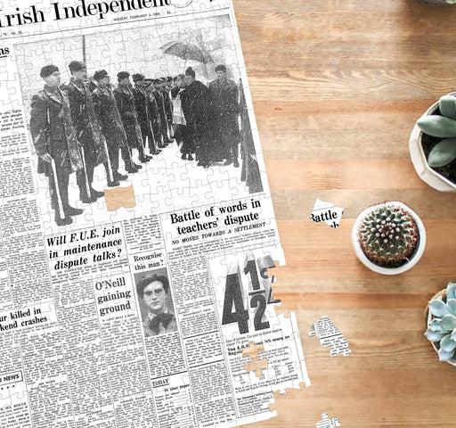 Irish Newspaper Front Page Jigsaw Puzzle