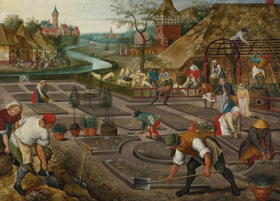 Spring - Pieter Brueghel The Younger 1000 or 500 Piece Jigsaw Puzzle