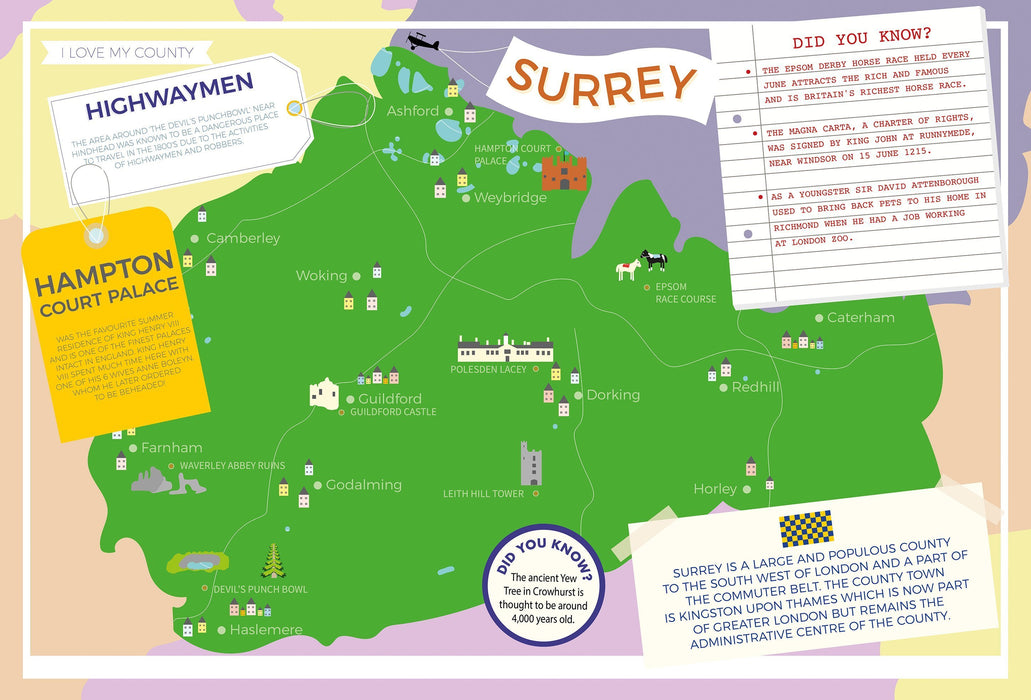 Surrey - I Love My County 400 Piece Jigsaw Puzzle