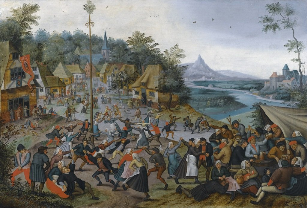 Dance around the Maypole - Pieter Brueghel The Younger 1000 or 500 Piece Jigsaw Puzzle