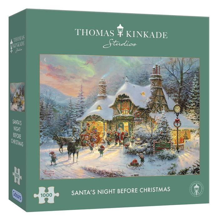Gibsons Santa's Night Before Christmas 1000 piece Jigsaw Puzzle box