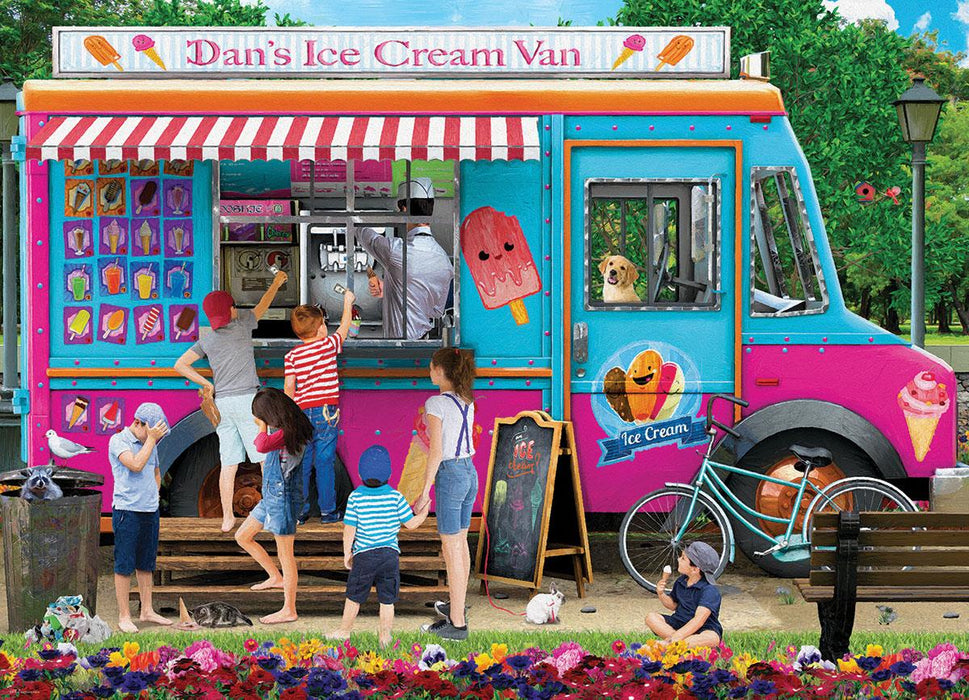 Dan's Ice Cream Van P. Normand 1000 Piece Jigsaw Puzzle