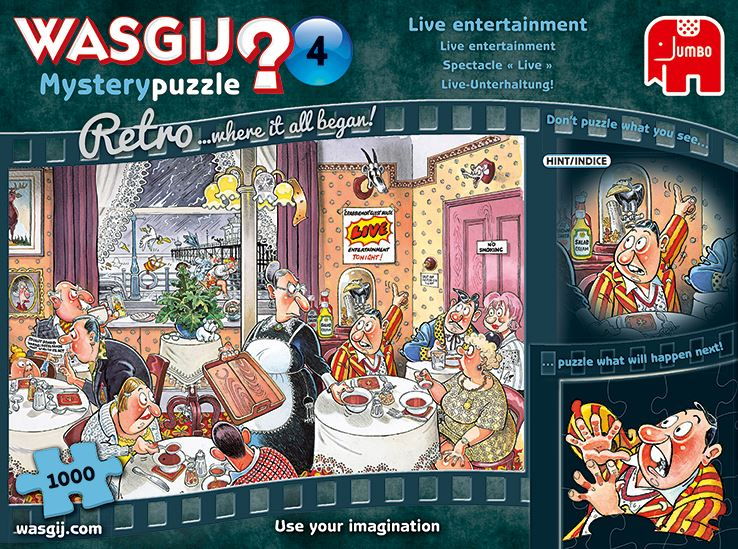 New 2020 -  Retro Wasgij Mystery 4 Live Entertainment 1000 Piece Jigsaw Puzzle