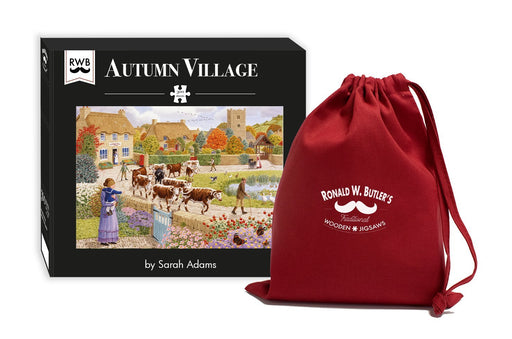 Autumn Village - Sarah Adams - 300 Piece Wooden Jigsaw Puzzle