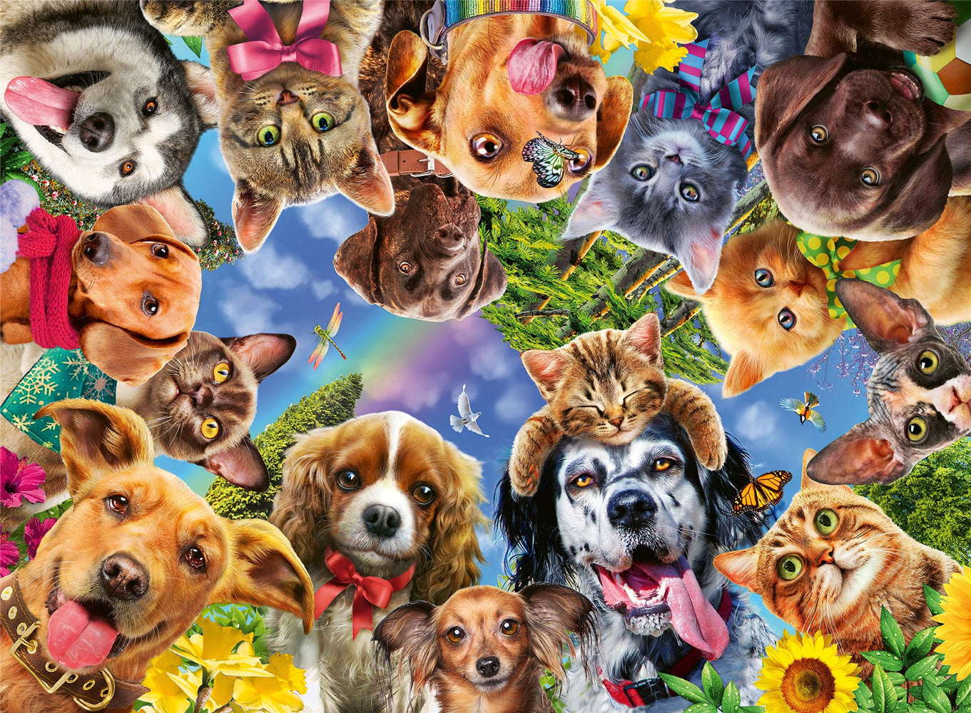 Ravensburger Animal Selfies, 500 Piece Jigsaw Puzzle