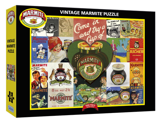 Gibsons Vintage Marmite 1000 piece Jigsaw Puzzle box