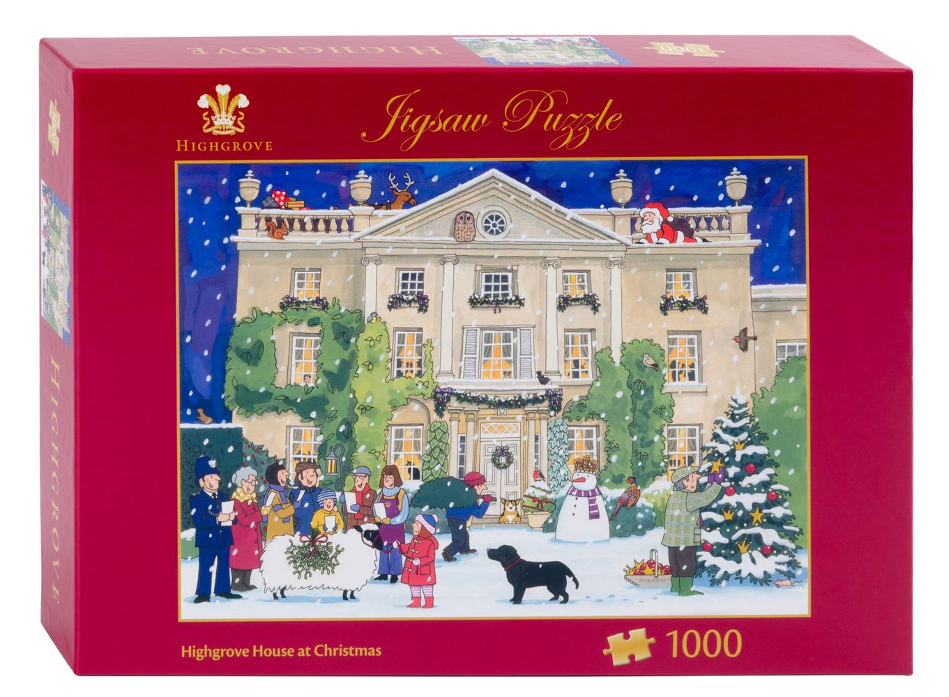 Highgrove House at Christmas 1000 Piece Jigsaw Puzzle