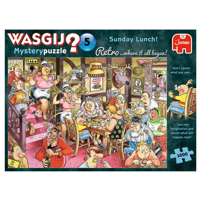Wasgij Retro 5 Sunday Lunch! 1000 Piece Jigsaw Puzzle 1
