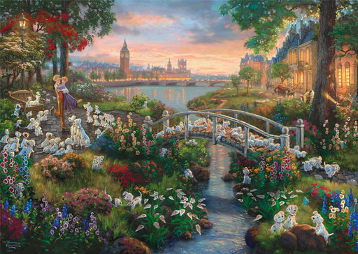Thomas Kinkade - Disney, 101 Dalmatians 1000 Pieces Jigsaw Puzzle