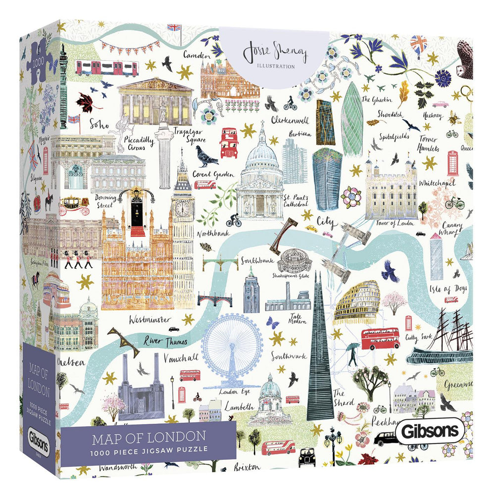 Map of London 1000 Piece Jigsaw Puzzle