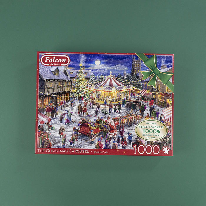 Falcon de Luxe 'The Christmas Carousel' Limited Edition 2 x 1000 Piece Jigsaw Puzzle 4