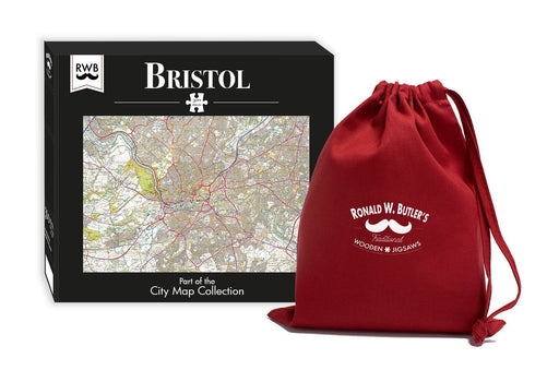 Bristol City Map Jigsaw Puzzle - 300 Piece Wooden Jigsaw Puzzle