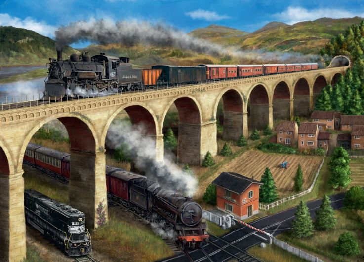 Falcon de luxe The Viaduct 1000 Piece Jigsaw Puzzles