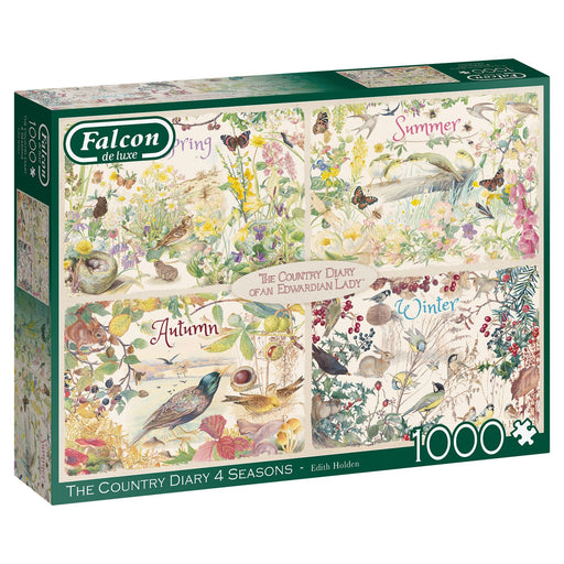 Falcon The Country Diary 4 Season 1000 Piece Jigsaw Puzzle box