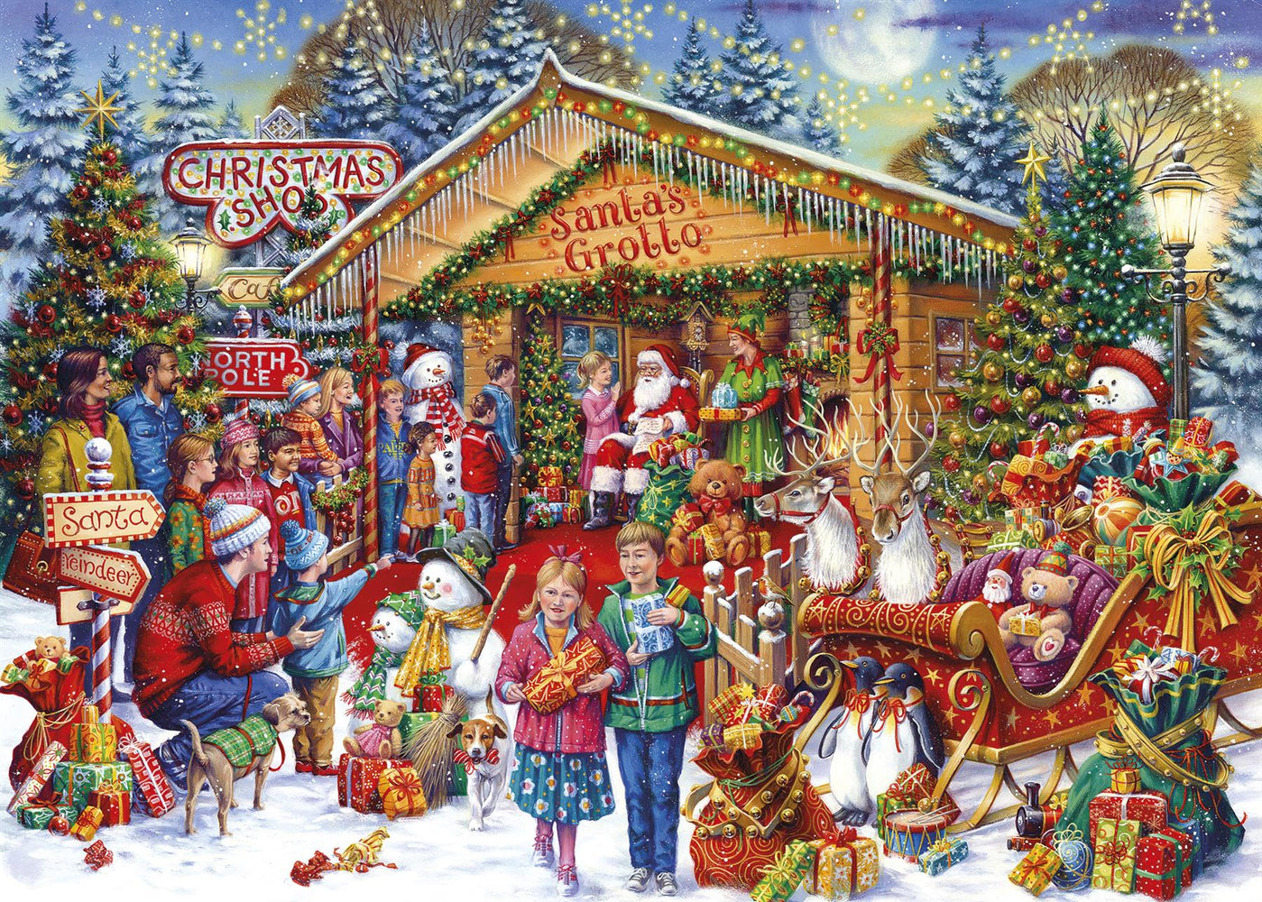 Christmas Limited Edition - This Way to Santa 1000 Piece Jigsaw Puzzle