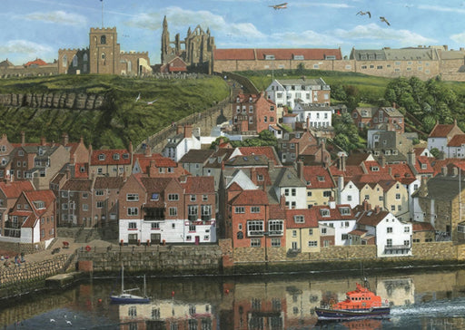 Around Britain Whitby Harbour Jigsaw Puzzle (1000-Piece)