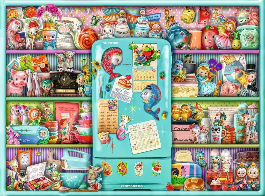 Kitschy Kitchen, 500 Piece Jigsaw