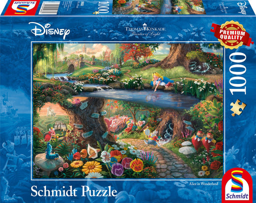 New 2020 - Thomas Kinkade: Disney, Alice in Wonderland 1000 Pieces