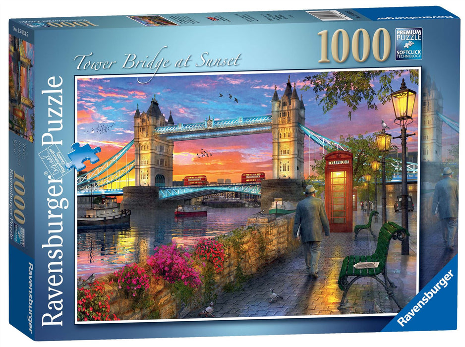 Ravensburger Tower Bridge at Sunset 1000 Piece Jigsaw Puzzle
