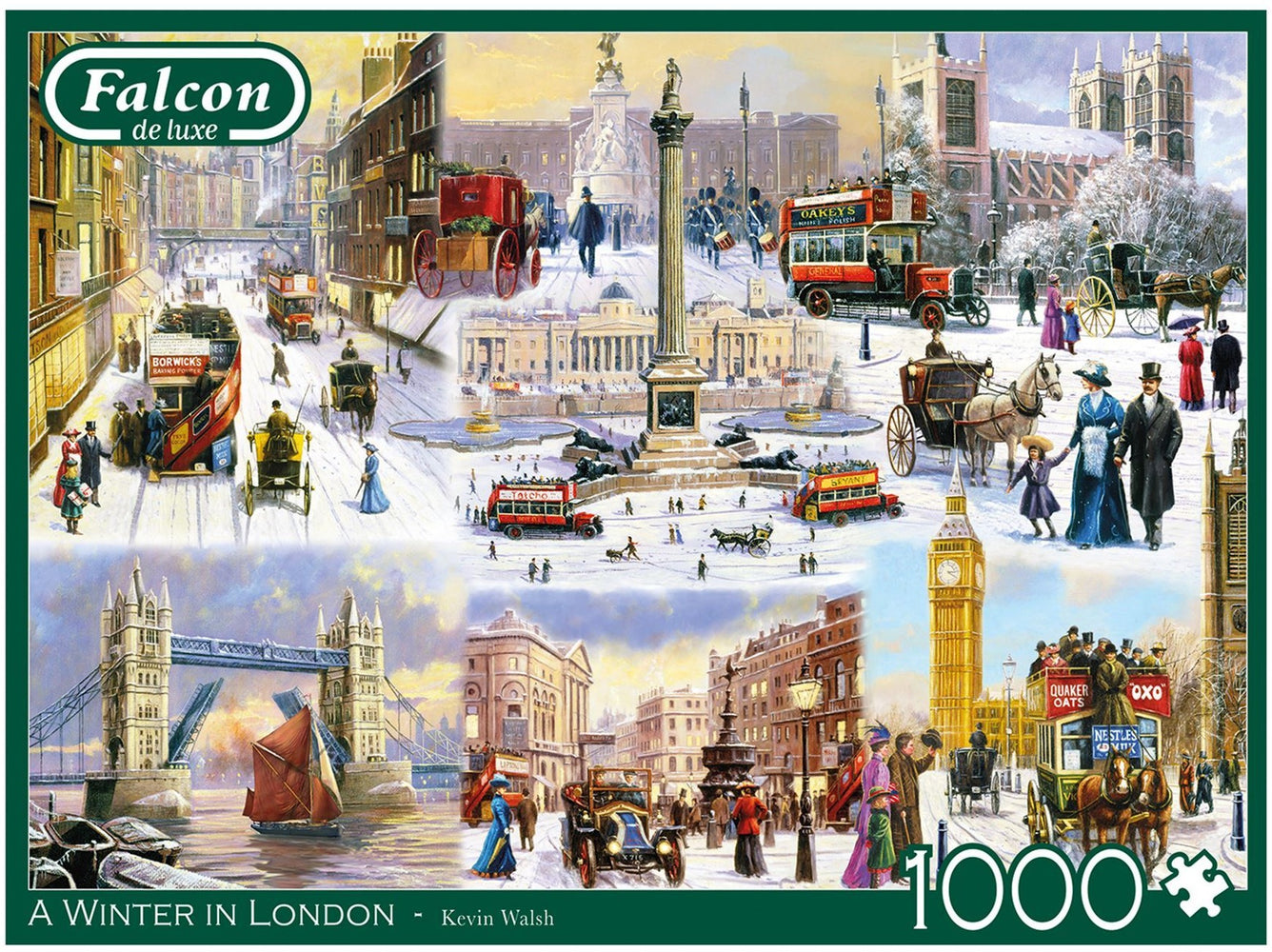 Falcon A Winter in London 1000 Piece Jigsaw Puzzle