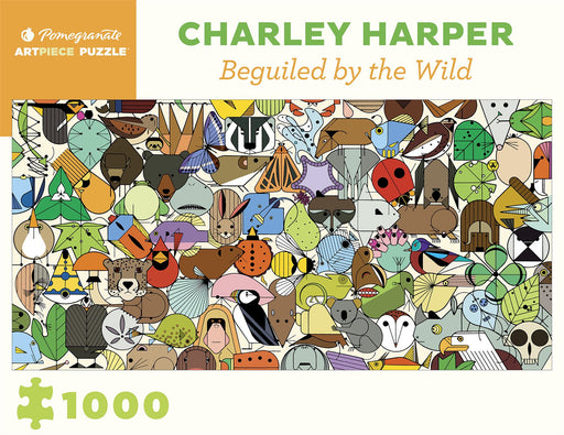 All Jigsaw Puzzles UK ~ Products ~ Charley Harper: Beguiled by the Wild 1000 Piece Jigsaw ~ Shopify Plus