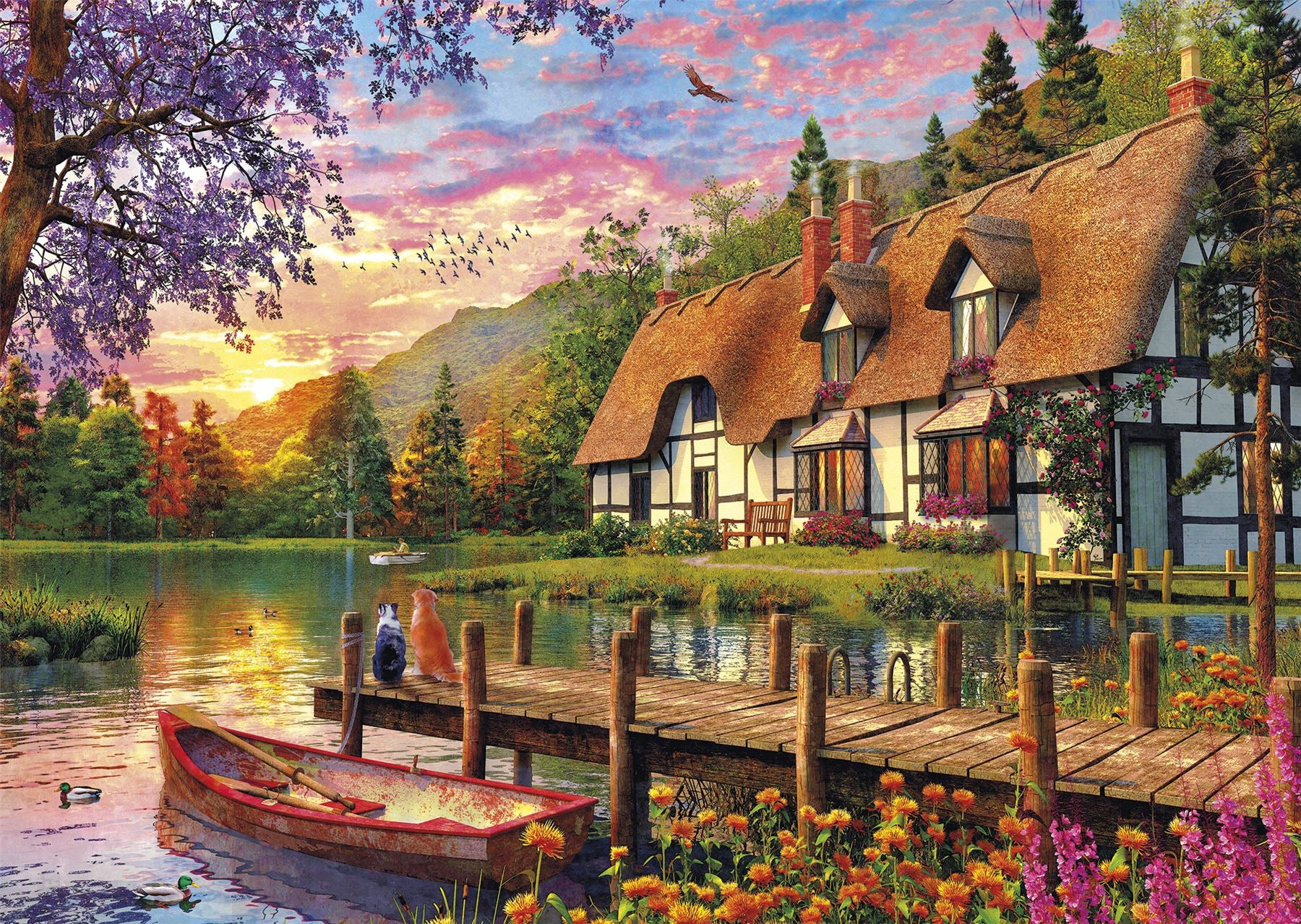 Lakeside Cottage Puzzle Relax Hobby Collect Coming Home 750 Piece Puzzle