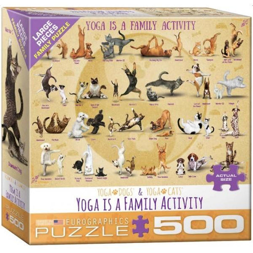 Yoga is a Family Activity 500 Large Piece Jigsaw Puzzle