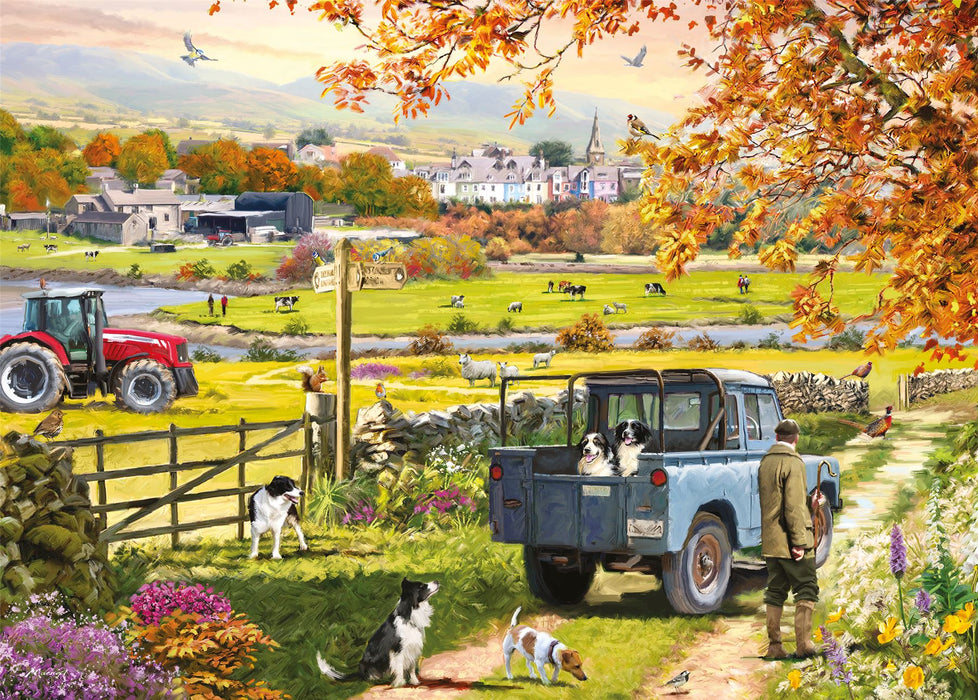 Countryside Morning 1000 Piece Jigsaw Puzzle