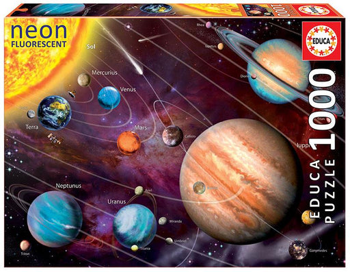 Neon Solar Systems 1000 Piece Jigsaw Puzzle