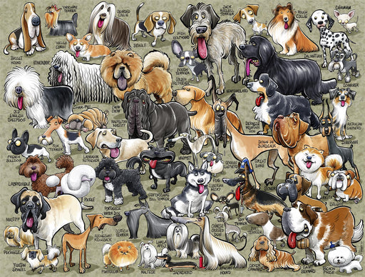 It's Just...Dogs! 1000 Piece Jigsaw Puzzle