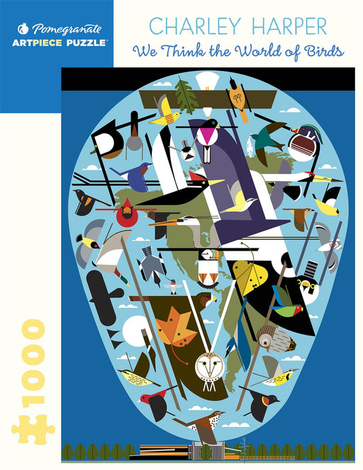 Charley Harper: We Think the World of Birds 1000 Piece Jigsaw