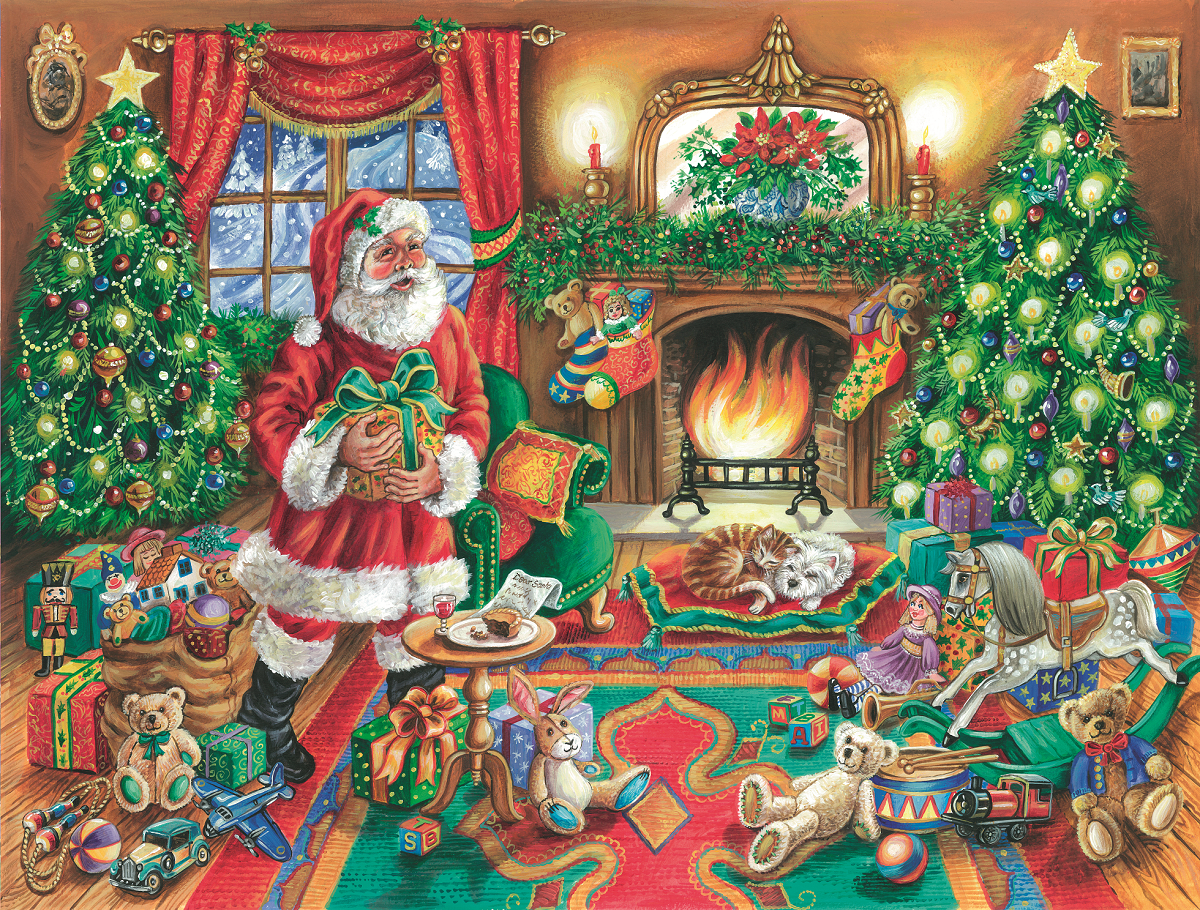 A Delivery from Father Christmas 1000 or 500 Piece Jigsaw Puzzle