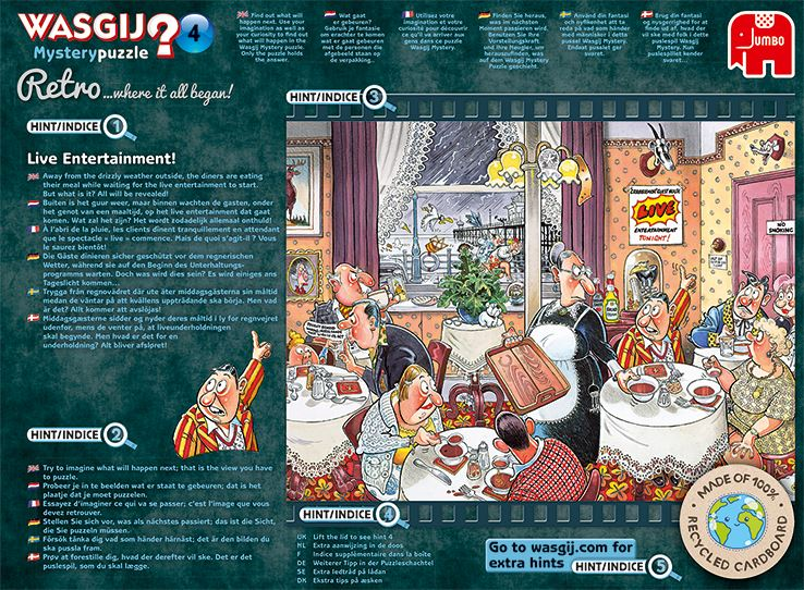 Retro Wasgij Mystery 4 Live Entertainment 1000 Piece Jigsaw Puzzle 3