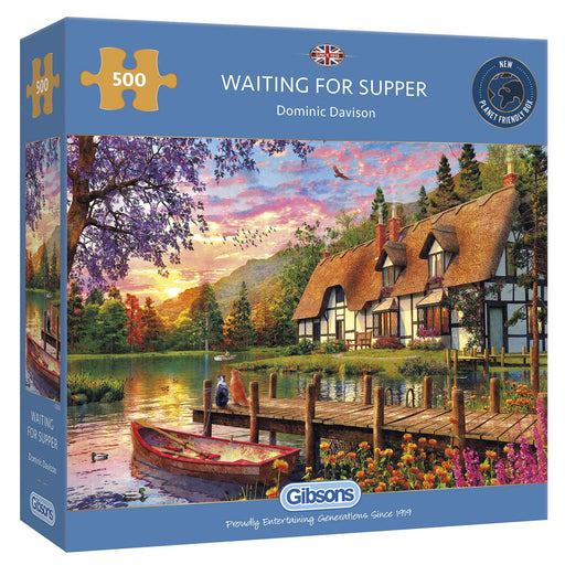 Gibsons Waiting for Supper 500 piece Jigsaw Puzzle - box