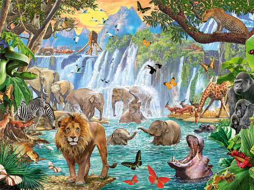 Waterfall Safari 1500 Piece Jigsaw Puzzle