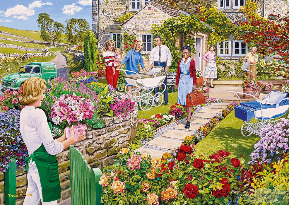 The Florist's Round 4x500 Piece Jigsaw Puzzle