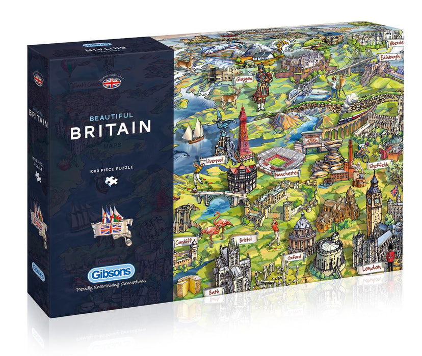 Beautiful Britain - Maria Rabinsky 1000 Piece Jigsaw Puzzle