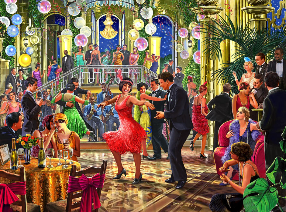 Falcon Dance the Night Away 500 Piece Jigsaw Puzzle
