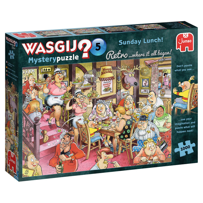 Wasgij Retro 5 Sunday Lunch! 1000 Piece Jigsaw Puzzle 2