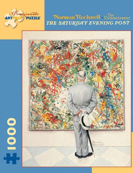 Norman Rockwell: The Connoisseur The Saturday Evening Post 1000 Piece Jigsaw