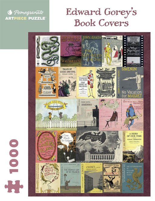 Edward Gorey's Book Covers 1000 Piece Jigsaw